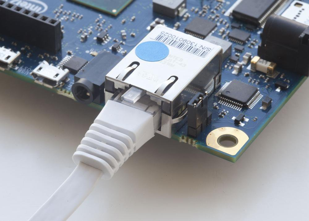 The Galileo's Ethernet port is just one way it can communicate with users or other devices.