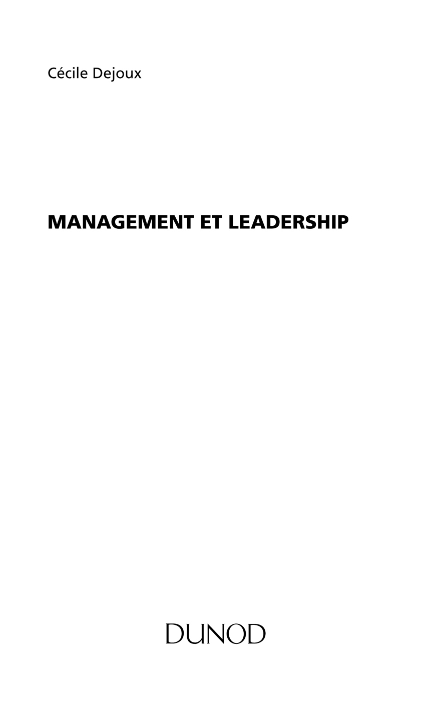 : Management et leadership