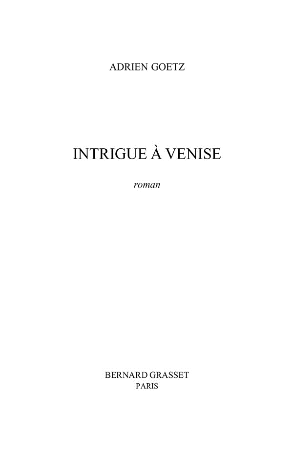 : Intrigue à Venise